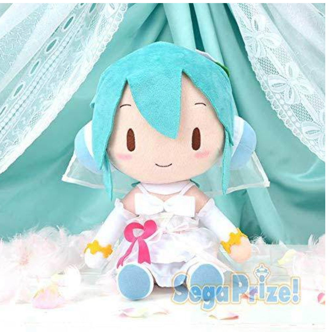 Vocaloid Hatsune Miku Sakura Miku 40cm Nesoberi Plush Sega 100/% authentic