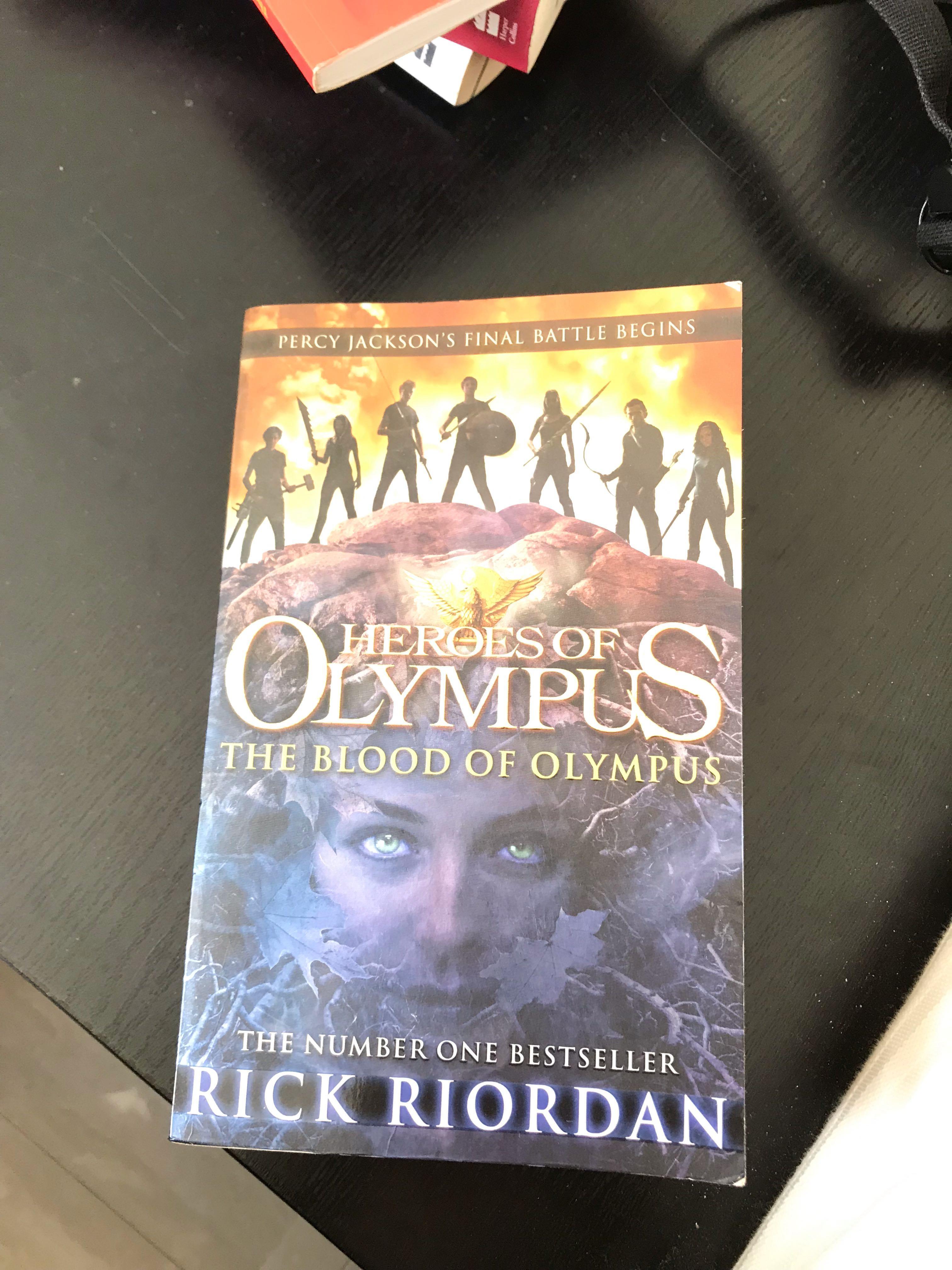 Heroes of Olympus the Blood of Olympus Percy Jackson Book