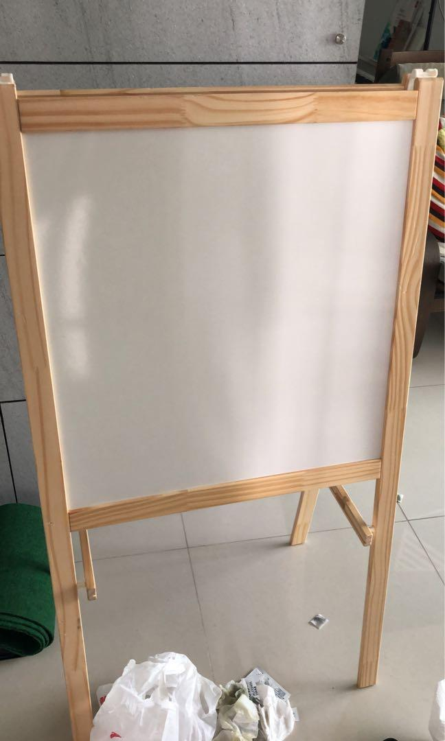 Ikea Easel Dual Side Whiteboard And Blackboard Books Stationery Magazines Others On Carousell