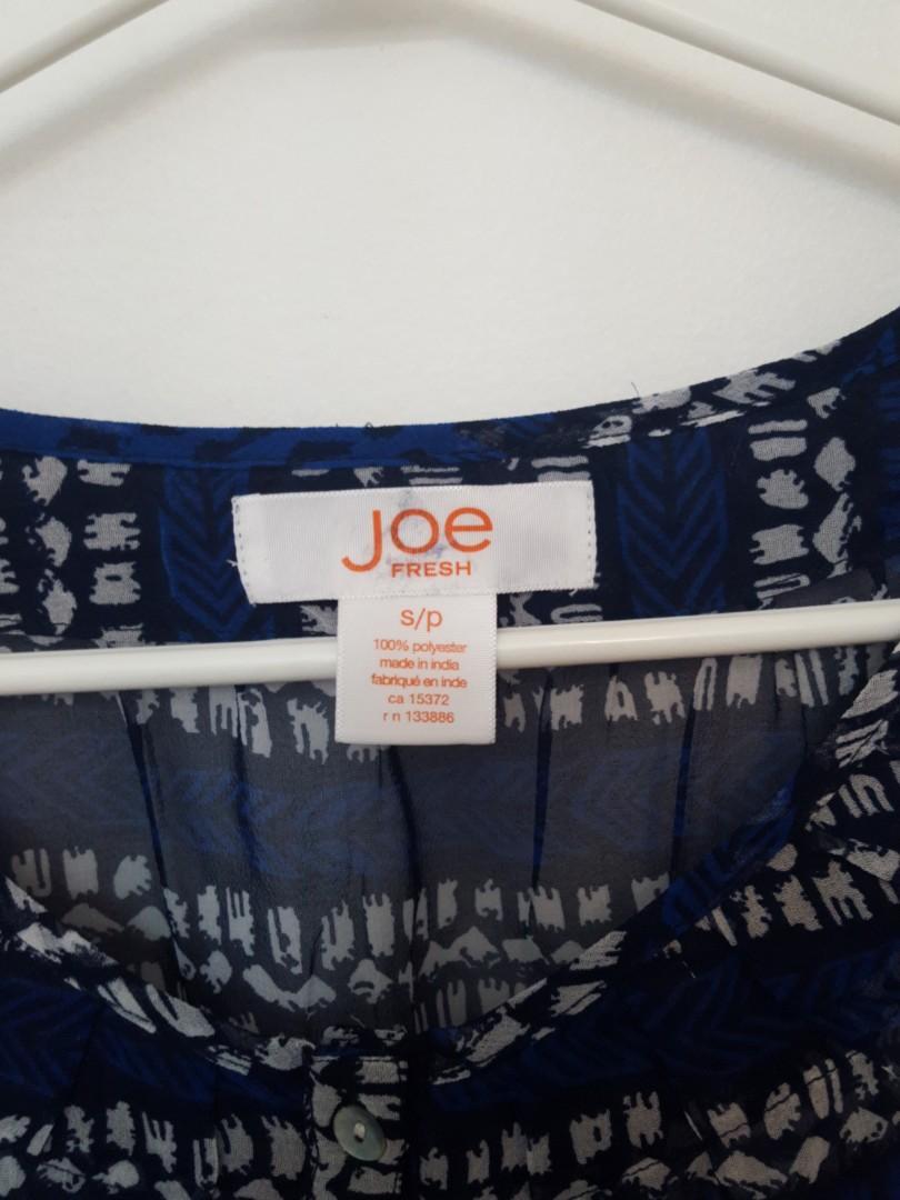 Joe Fresh Sheer Patterned Shirt