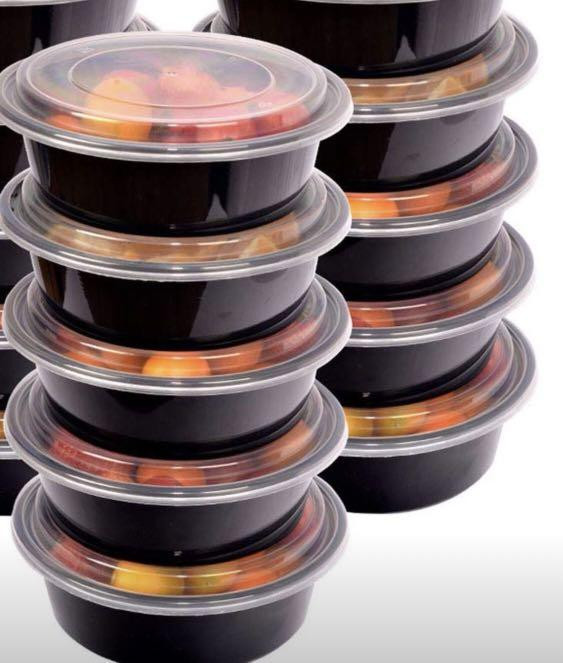 Meal Prep Bowls (10X)$20 - Container with Lids, FDA Approved & BPA Free, Stackable & Reusable 25 oz