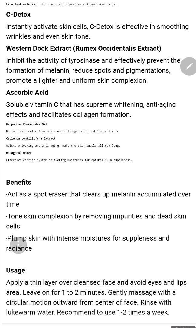 Mioggi Ultimate Whitening Resurfacer