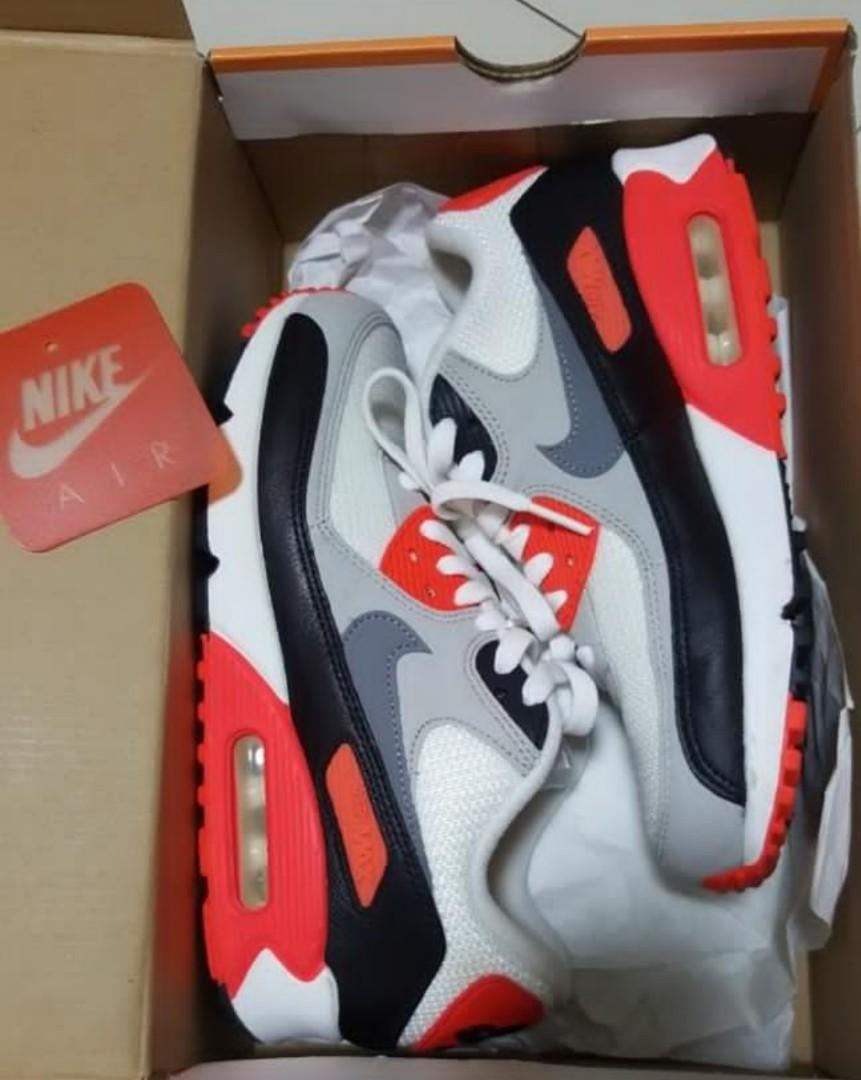 Nike Air Max 90 Infrared, Women's Fashion, Shoes, Sneakers
