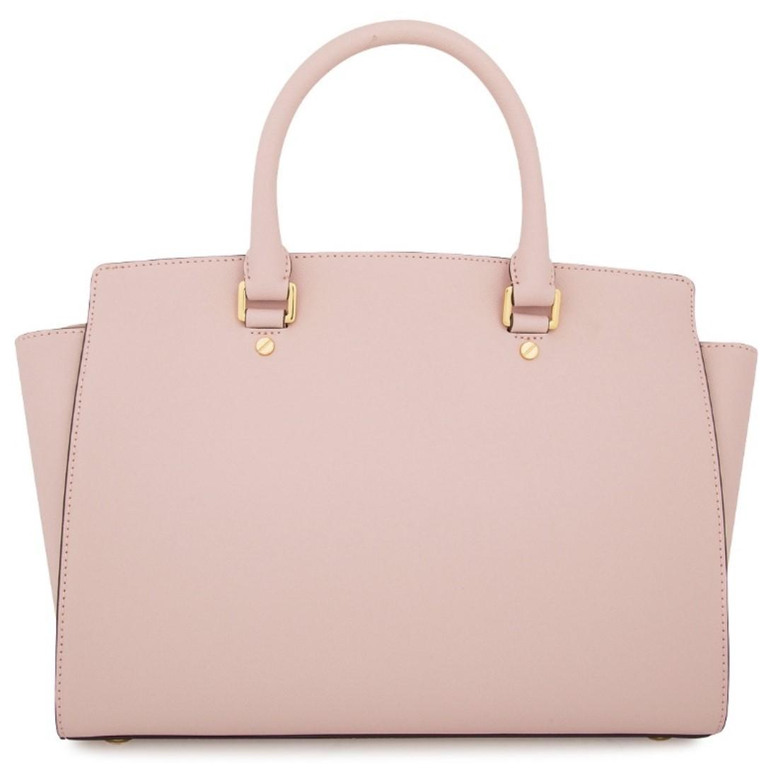 NWT MICHAEL KORS Blossom Pink Large Selma Top-Zip Satchel *HARD TO FIND COLOUR*