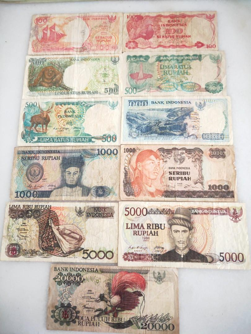 Old Indonesia Rupiah Mixed, Vintage & Collectibles, Currency