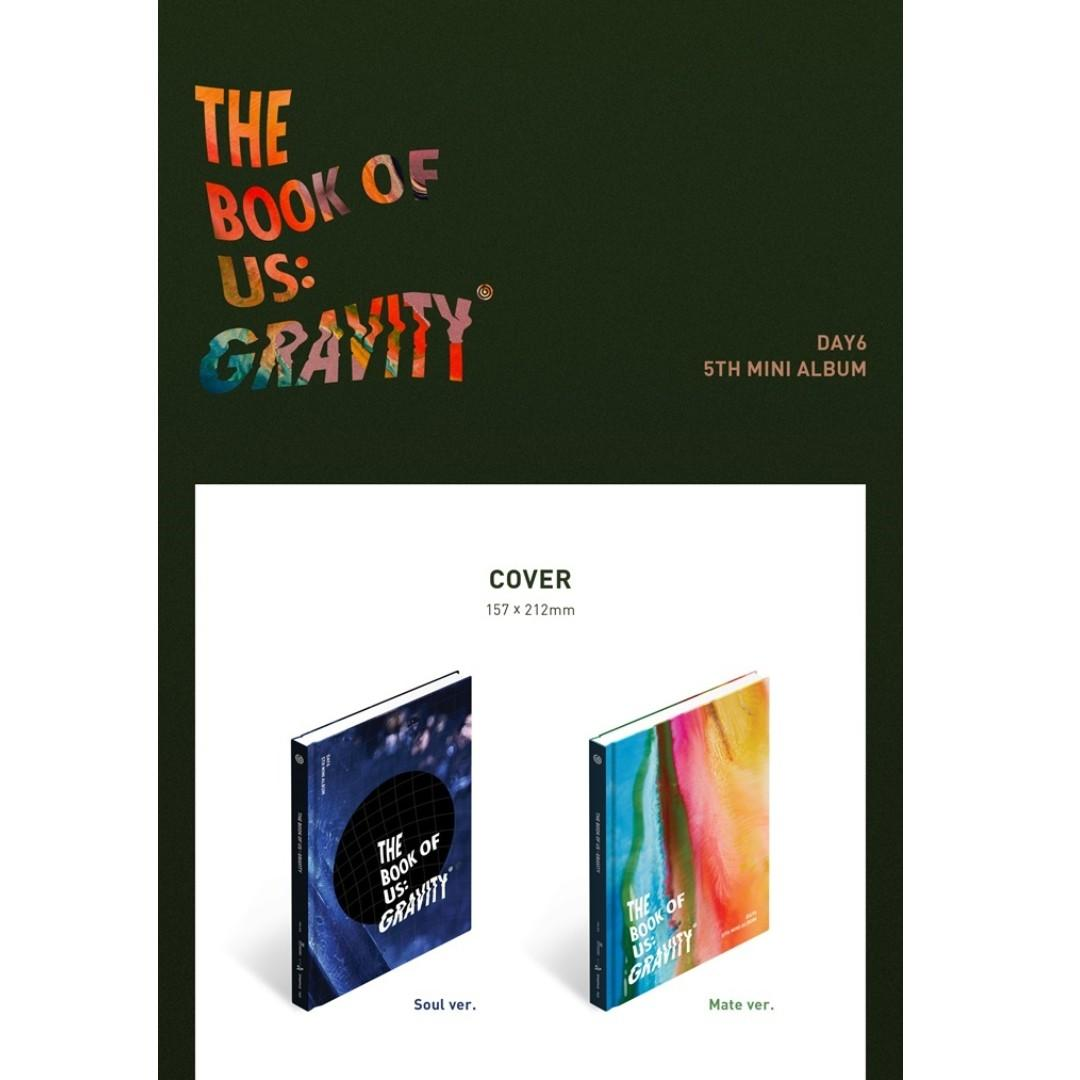 [PREORDER] 데이식스 (DAY6) - THE BOOK OF US : GRAVITY / 5TH 미니앨범