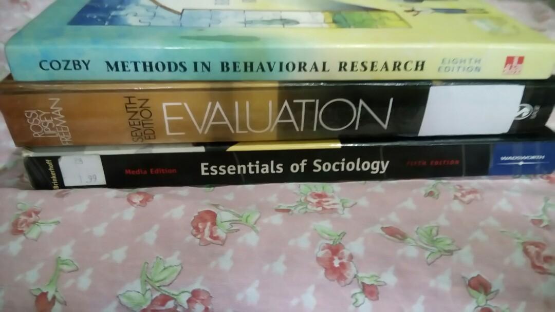 Psychology, Statistics, Sociology, Nutrition Books