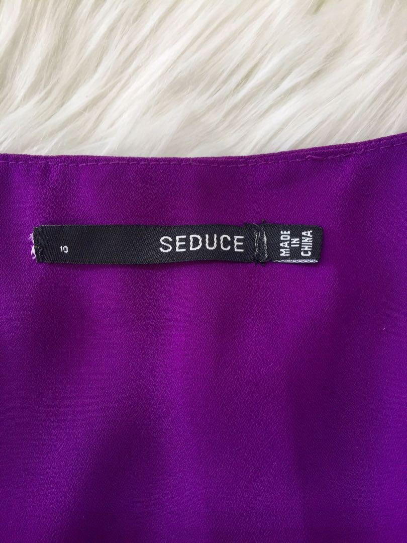 SEDUCE Chiffon Purple Dress - Size 10 AUS  - Day Time or Evening