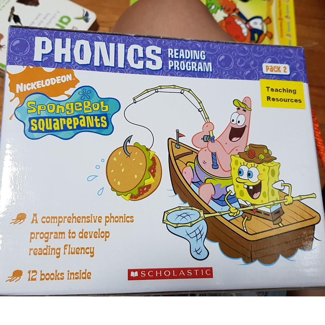 Spongebob phonics reading program, Books & Stationery ...