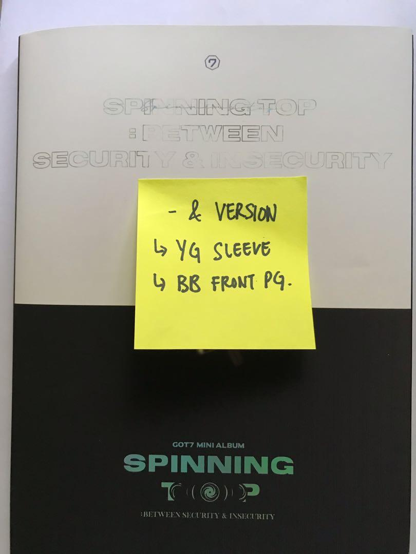 [WTS/ CLERANCE] GOT7 Spinning Top album & ver + FREE POSTER (rolled)