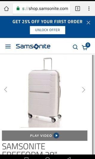 "Samsonite 28"" free foam Luggage"
