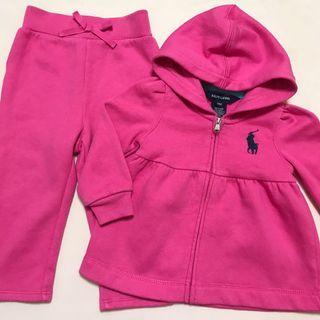 Ralph Lauren Pink Hoodie Jacket and Pants Set