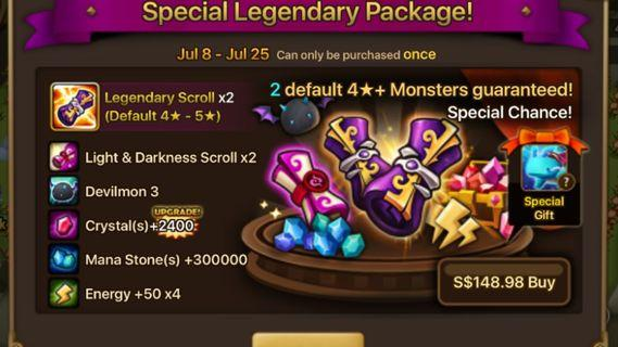Summoners war special legendary pack