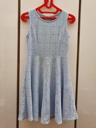 Lzzie crochet blue dress