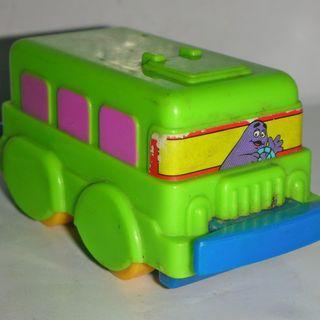 🚚 aaL皮1商旋.(企業玩偶公仔娃娃)早期1993年麥當勞發行麥當勞萬能先鋒-奶昔大哥雙層巴士--距今已有26年歷史!/6房樂箱117/-P
