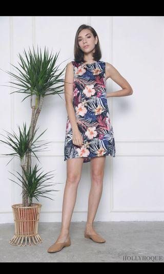 BN Hollyhoque Palm Island Shift Dress