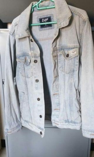 Trucker Hour soft blue jacket denim erigo like new