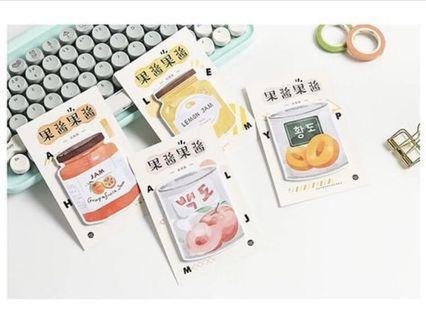 💮果醬系列🍓 - 4款Memo紙 30張💮