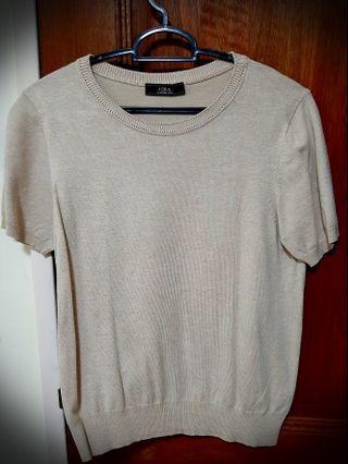 Short Sleeves beige sweaters