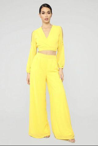 Yellow two piece set size small