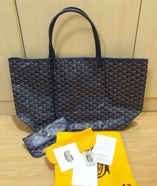 ✨🥰🥰Goyard Saint Louis Tote Bag Shopping Bag GM size Dark Blue Colour 超靚色 Full set 保證真品