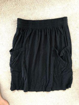 Aritzia Talula High Waisted Cotton Skirt