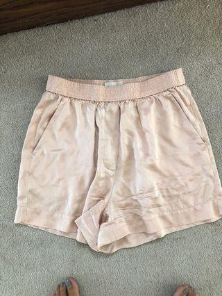 Aritzia Wilfred Silk Shorts