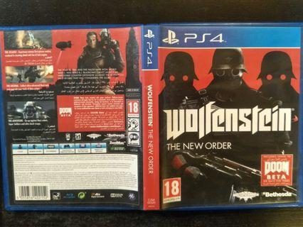 PS4 Wolfenstein (2 for $30)