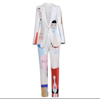 Brand new two piece blazer set for size 4