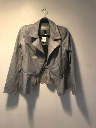 Danier Grey Leather Jacket