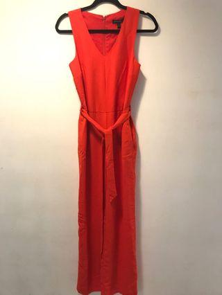 Banana Republic Red Jumpsuit