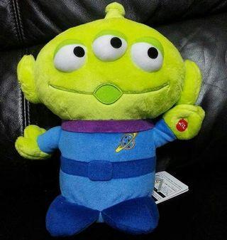 Disney 迪士尼 Toy Story 反斗奇兵 Alien 三眼仔 電動左右搖頭 大景品公仔 30cm高 全新正版有吊牌