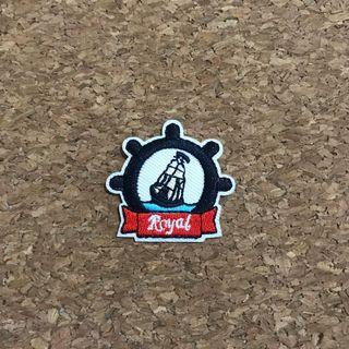 Royal sailing sailor iron on sew on patch