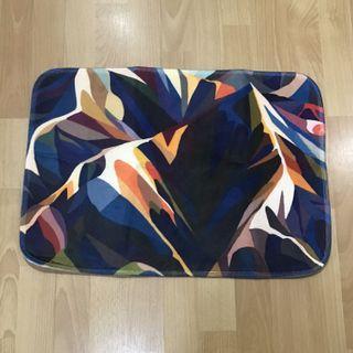 Rainbow mountain abstract home rug bathroom floor mat