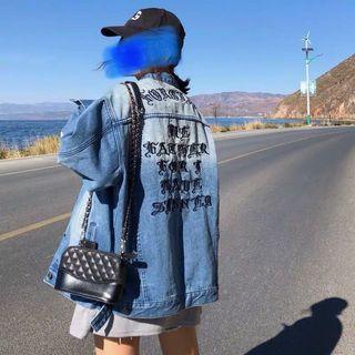 S M L denim jacket