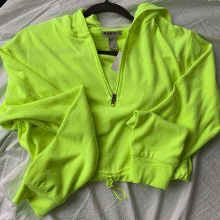 Neon green crop top size SMALL