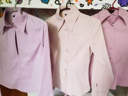 Italian designer womens dress shirts work clothes. Size xs. Pick up 20 Bay or  Gerrard and main or Yorkville. Each for $10 or all 3 for $20. Retails for $100 each.