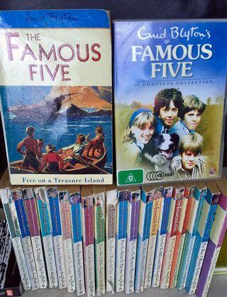 🚚 Famous Five: DVDs and all 21 books, complete collection