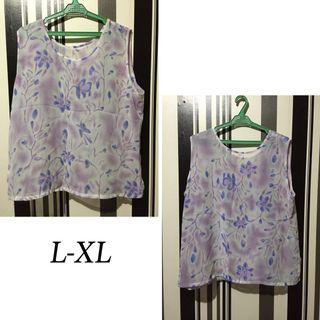 Purple Floral Office inner blouse ( for coats and blazers)