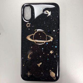 saturn iphone case (black)