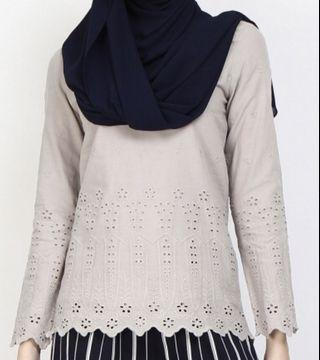 Poplook lace top in grey