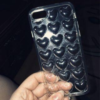 3d heart jelly iphone case (transparent)