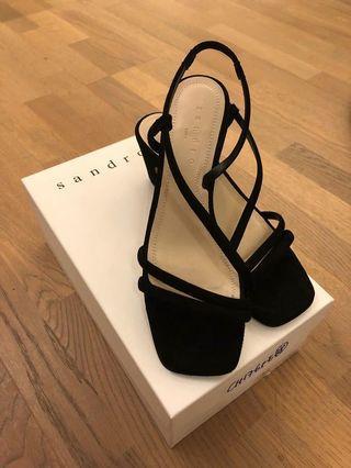 Sandro black suedes sandal