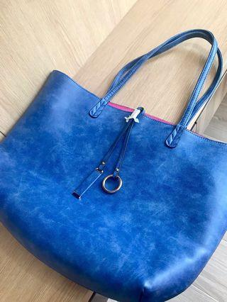 Blue & Pink Tote Bag