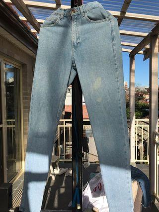 American Apparel Light Blue Skinny Jeans