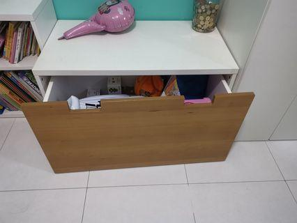IKEA children table with roll out drawer