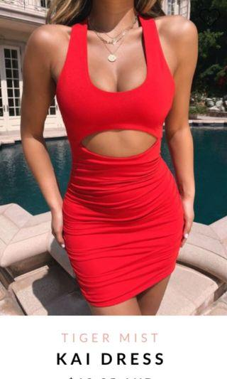 Tigermist Kai Red mini dress