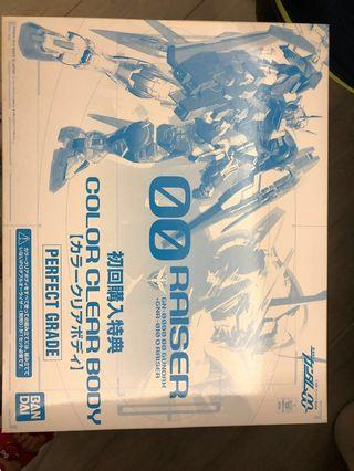全新Perfect grade Gundam 00 Raiser 初回特典 透明外殼