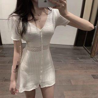 Knitted white dress