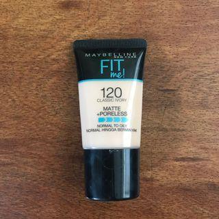 Maybelline Fit Me Foundation - 120 Classic Ivory